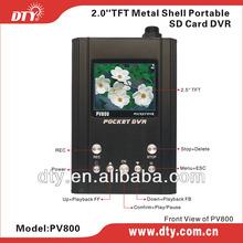 DTY PV800 Security Portable car mirror dvr kit