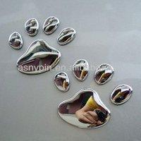3D dog feet decal sticker car emblem