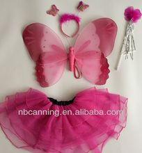 Fantasia de fadas asas / filhos da asa da borboleta costume set / Sexy Angle Wing barato