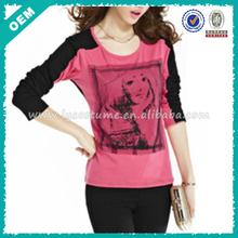 Cheap women t-shirt/fashionable innovative ladies t-shirt print design (lyt0300080)