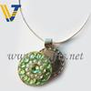 Fashion crystal golf ballmarker necklace
