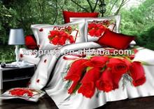 100% cotton 3D bridal bedding set