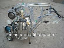 Single Barrel mobile vacuum milking machine/Vacuum Pump Portable Milking Machine for Cow/Sheep/Goat in low price