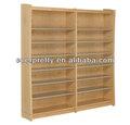 Fotos de estantes de madeira, estante de madeira, escola de mobília da biblioteca