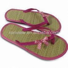 Hot sale wholesale straw flip flops for kids