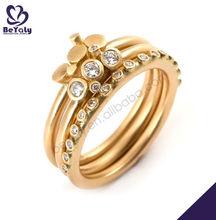 Smart gold plating shiny zirconia ring for wheel of car