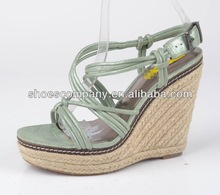 Sexy and comfortable hemp rope lady wedges sandals shoes for girls