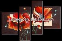 Canvas Flower Painting,Handpaint Decor Abstract Art 28270