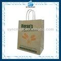 De la máquina- hecho de compras de papel kraft marrón proveedor de bolsas