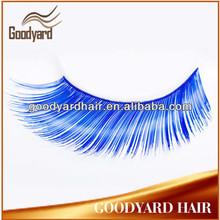 Colorful crazy feather blue cheap false eyelashes