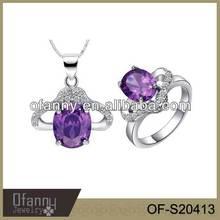 Women Fashiojn Jewelry Set Beautiful Necklace Sets Ring Set