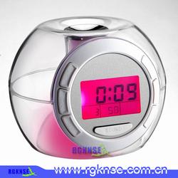 2014 custom sound alarm clock with colorful light