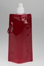 Wholesale Solid Color 480ml Foldable Water Bottle - Red