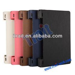 Brushed Flip Leather Case for Lenovo Yoga Tablet 8 B6000 Case
