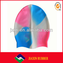 2014 New Arrival-- big printing Silicone Swimming cap/national flag swim caps