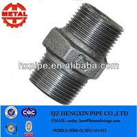 Malleable iron pipe fittings hexagonal nipple