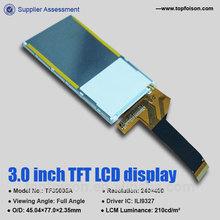 Graphic 3.0inch sanyo lcd screen for ILI9327 drive IC