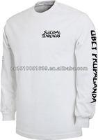 Wholesale sweat suits print men's long sleeves t shirt