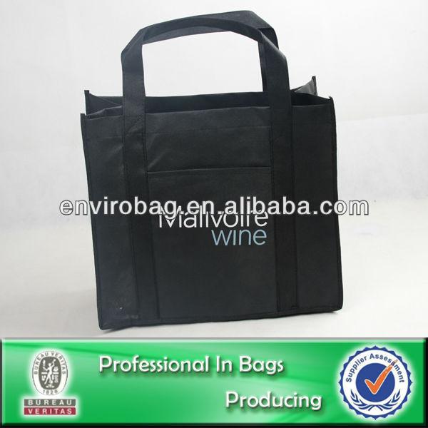 100% Recycled Fabric 6 Bottles or 4 Bottles or 2 Bottles Reusable Divided Wine Tote Bag