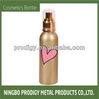 Metal fancy custom chemical pump spray bottle