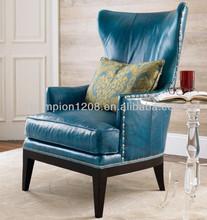 Elegant high back king retro sofa chair