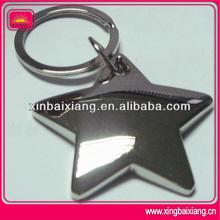 New design keyring starfish custom metal keychain