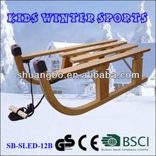 Children Wooden Snow Foldable Sled 80CM Promotion(SB-Sled-12B)