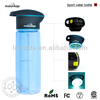 battery-powered Rechargeable LED Flashlight with SOS Function and Environmental Traveling Hiking Water Bottle