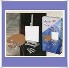 mini wooden easel/canvas/palette/acrylic paint/brush