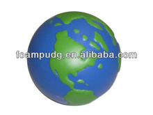 Printed popular earth ball style hot sale PU anti stress balls