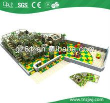 Forest theme kids plastic slides playground,indoor adventure area