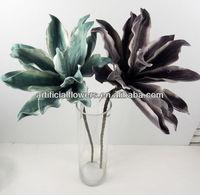 new design hign quality eva/plastic foam flower /foam green leaves for flower arrangement