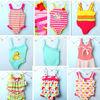 Factory price light pink white dots children's swimwear kids swinwear a little baby swimwear