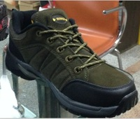 High quality rubber outsole leahter safety boots hiking shoes outdoor shoes overstock