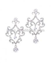 mothers day jewelry fancy long hanging big stone earrings (E104720-1)