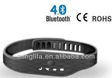 2014 Latest 30 Days Memory and bluetooth 4.0 wristband Wristband Pedometer