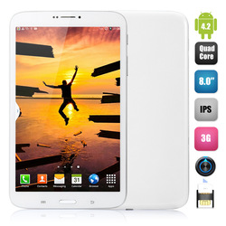 8.0'' T311 No Brand Smart Phone MTK6582 Quad Core 1.3GHz IPS Screen 1GB 8GB 5.0MP Android 4.2 GSM WCDMA 1280X800 Pixels