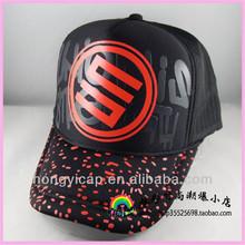 OEM Customized baseball caps Van trucker hats printed design sport hats Cross heart hot drilling hats foam mesh trucker caps
