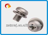 aluminum pan head combine screw