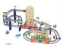 Hot sale plastic smoke train set toys for promotion
