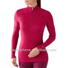 Womens ziptop merino wool thermal underwear