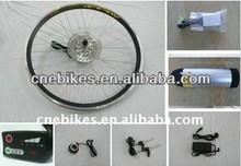 36v250w front wheel ebike conversion kits + 36v 11ah bottle battery + led display , electric bike conversion kits