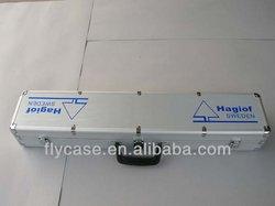 ABS+PU leather aluminum shot gun cases/carrying aluminum gun case with cork wood