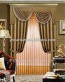 Doble swag de cortina con cenefa