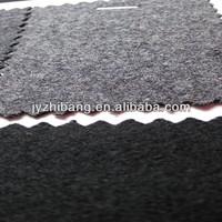 100% machine washable organic melton wool fabric