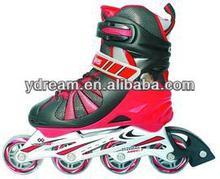 2014 new arrival High quality adjustable inline skate shoes flash roller skates,roller inline skate shoes withred color