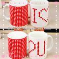 Changement de couleur tasse de café, belle impression cadeau tasse à café en céramique, prime en céramique tasses à café d'impression personnalisés