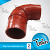 2014 90 degree silicone elbow hose with rings reinforced used for foton Engineering.