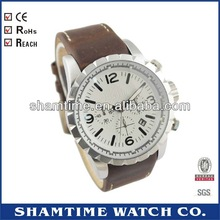 ST - 4327 Super Multifuntion Mens Wrist Watches Genuine Leather Strap
