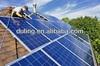 Alternative energy solar photovoltaic panels and solar power plant